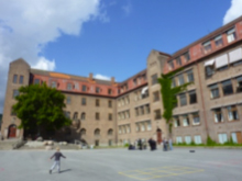 The main school building seen from courtyard